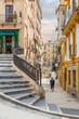 Streets of old Tarragona, Spain. Walk around Tarragona 13.06.2019. Tarragona is a port city located in northeast Spain on the Costa Daurada by the Mediterranean Sea.