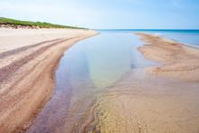 Beautiful Sandy Beach With Dun...