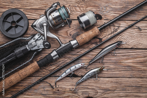 Fotografia  Fishing tackle for catching predatory fish