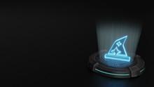 3d Hologram Symbol Of Hat Wiza...