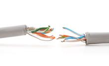 Damaged Internet Wires.