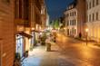 Germany, Berlin, lighted Nikolai Quarter at night