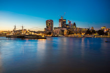 UK, London, Skyline At Night W...
