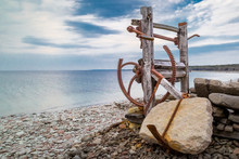 Derelict Old Boat Winch On The...