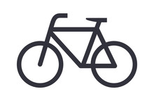 Bike Icon Bicycle Vector Symbol