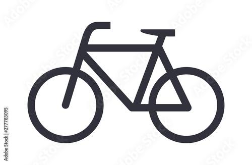 Obraz Bike icon bicycle vector symbol - fototapety do salonu