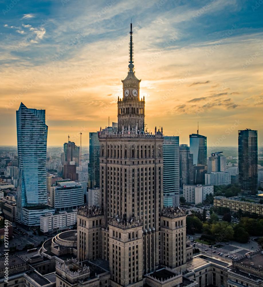 Fototapety, obrazy: Pałac Kultury i Nauki w Warszawie
