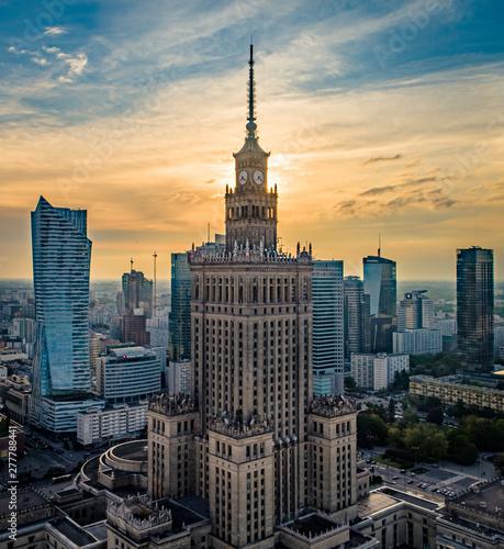 Obraz Pałac Kultury i Nauki w Warszawie - fototapety do salonu