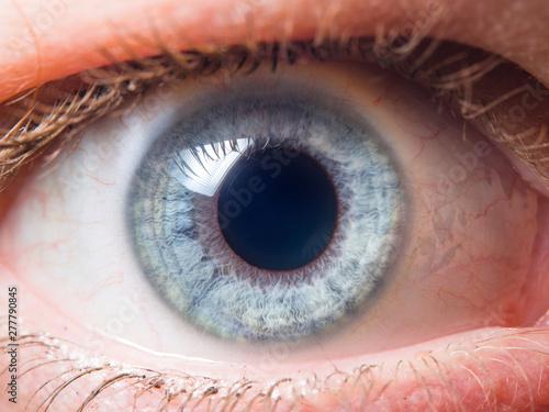 Leinwand Poster Human eye close up