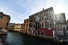 Canal In Venice, Photo As A Ba...