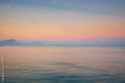 Fototapety, obrazy: seascape in sunset skyline in evening in thailand