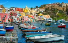 Marina Di Corricella, Procida Island, Naples, Italy