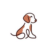 Dog Cat Pet Logo Vector Icon Line Art Outline Design
