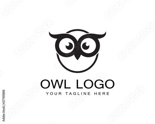Poster Owls cartoon Owl logo template vector