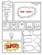 Blank Comic Book, Mock Up With...