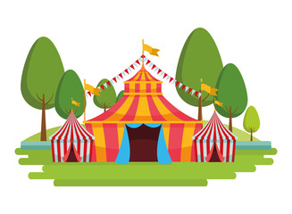 big circus in the park