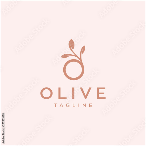 olive vector icon logo design / O letter initial - 277821088