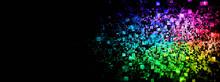 カラフルな光の粒子