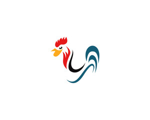 chicken logo image design vector illustration