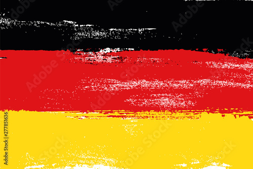 Germany colorful brush strokes painted national country flag icon Canvas Print