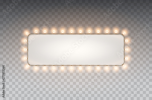 Light rectangle banner isolated on transparent background Canvas Print