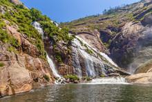 Ezaro, Spain. Scenic Waterfall...