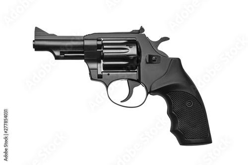Pistol revolver isolate on white background Wallpaper Mural