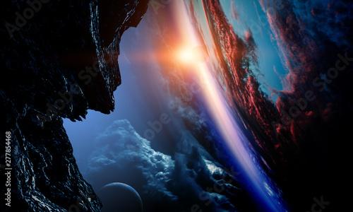 Deep space beauty. Planet orbit. - 277854468