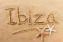 Ibiza Spain Beach Sand Sign
