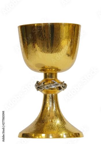 Gold sacred chalice, church of Saint Matthew in Stitar, Croatia Fototapeta