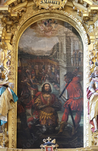 Altar of Saint Maurice in the church of St Wallpaper Mural