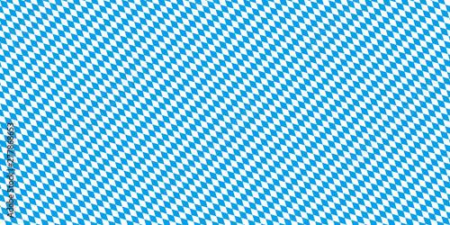 Cuadros en Lienzo Oktoberfest Hintergrund Bayern Flagge Muster nahtlos wiederholend