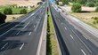 Time lapse of dense traffic on German highway - high angle view from a bridge