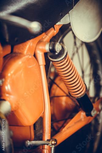 Vintage motorcycle shock ab...