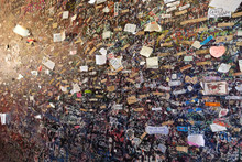 Wall Full Of Messages From Lovers In Juliet`s House In Verona, Italy