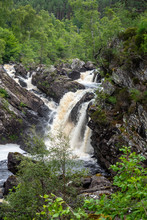 Rogie Falls Are A Series Of Waterfalls On The Black Water, A River In Ross-shire In The Highlands Of Scotland. The Falls Are About 2 Km North-west Of The Village Of Contin, Next To The A835 Road. They