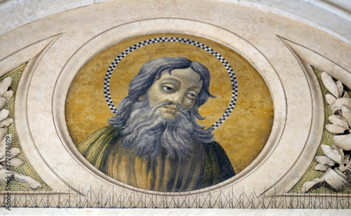 Fotomural Saint Simon the Zealot, Apostle, mosaic in the basilica of Saint Paul Outside th