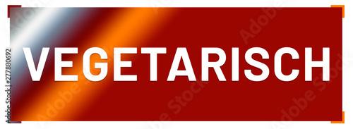Photo  vegetarisch web Sticker Button