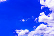 canvas print picture - The sky is blue with clouds