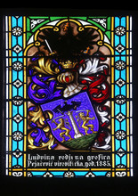 Coat Of Arms Of Ban Countess Ludvine Pejacevic, Stained Glass In Zagreb Cathedral