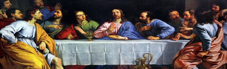 Last Supper, Catholic Cathedral of the Most Holy Rosary in Kolkata, India