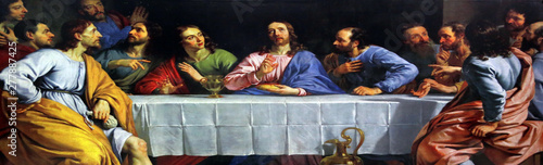 Obraz Last Supper, Catholic Cathedral of the Most Holy Rosary in Kolkata, India - fototapety do salonu