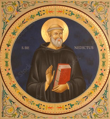 Saint Benedict of Nursia Canvas Print