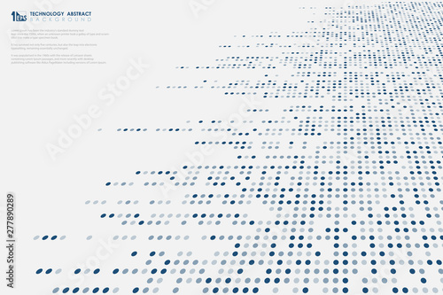Abstract Dimension Blue Dots Pattern Big Data Technology