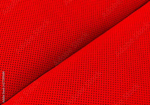 Modern Luxury Car Red Leather Interior Part Of Perforated Leather Car Seat Details Red Perforated Leather Texture Background Texture Artificial Leather With Stitching Perforated Leather Seat Buy This Stock Photo And
