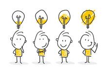 Strichfiguren / Strichmännchen: Business, Idee. (Nr. 413)