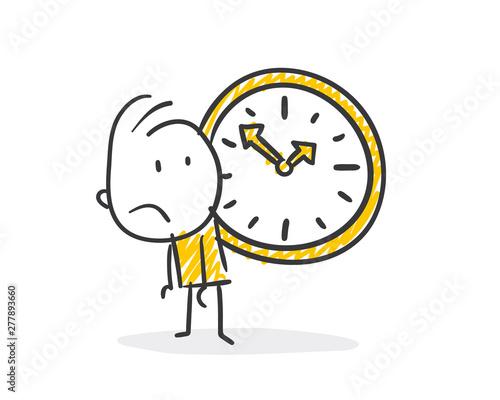 Foto Strichfiguren / Strichmännchen: Uhr, Tempo. (Nr. 415)