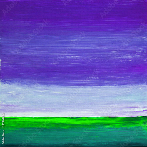 Poster Prune Painting Acrylic and Full spectrum on cardboard artist creative painting background
