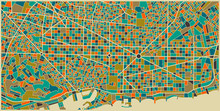 Barcelona Colourful City Plan