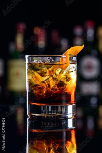 classic cocktail negroni blur bar Canvas Print